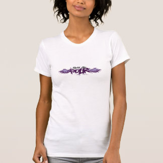Mamá de cuatro purpleish camiseta