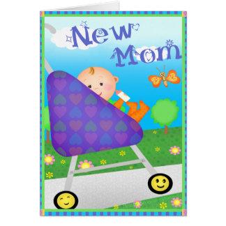 Mamá de encargo del día de madre nueva tarjeta de felicitación
