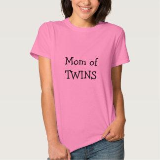 Mamá de la camiseta de las mujeres de los GEMELOS