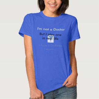 Mamá de la diabetes del tipo 1 camisetas