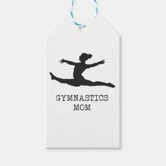 Mamá de la gimnasia etiquetas para regalos