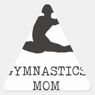 Mamá de la gimnasia pegatina triangular