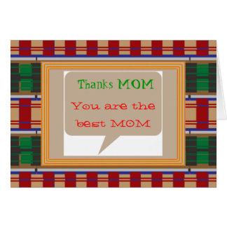 MAMÁ de las gracias - texto editable para otro apl Felicitacion