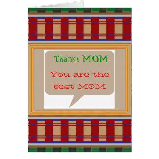 MAMÁ de las gracias - texto editable para otro Tarjeta De Felicitación