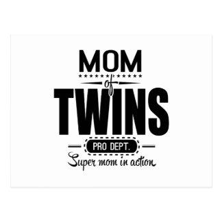 Mamá de los gemelos favorable Dept. Super Mom en Postal