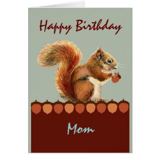 Mamá de nosotros arte NUTS de la ardilla del humor Felicitación