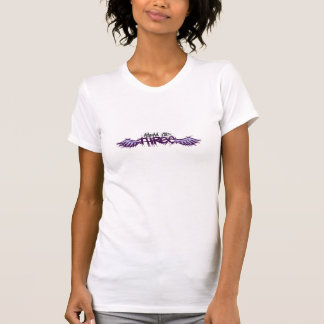 Mamá de tres purpleish camiseta