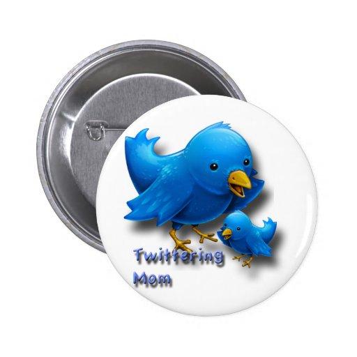 Mamá de Twittering Pins