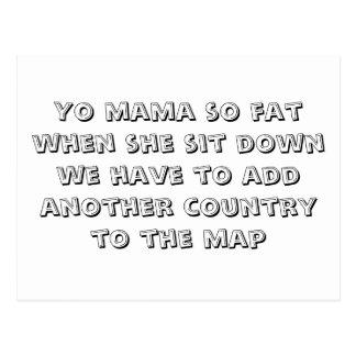 Mamá de Yo tan gorda cuando ella se sienta tenemos Tarjeta Postal