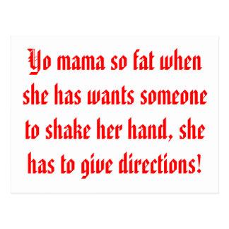 Mamá de Yo tan gorda Tarjeta Postal