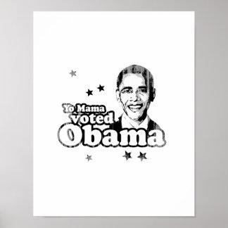 Mamá de Yo votada por Obama Faded.png Impresiones