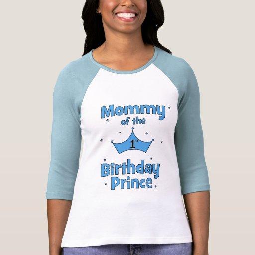 ¡Mamá del 1r príncipe del cumpleaños! Camisetas