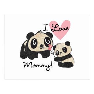 Mamá del amor de las pandas I Tarjetas Postales