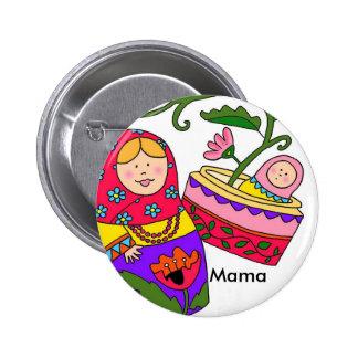 Mamá del bebé de Matryoshka nueva Chapa Redonda 5 Cm