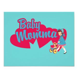 Mamá del bebé invitación 10,8 x 13,9 cm