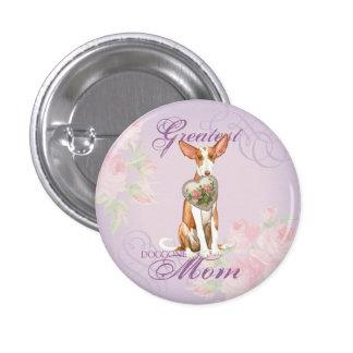 Mamá del corazón del perro de Ibizan Chapa Redonda De 2,5 Cm