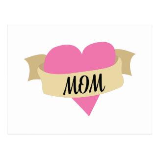 Mamá del corazón postal