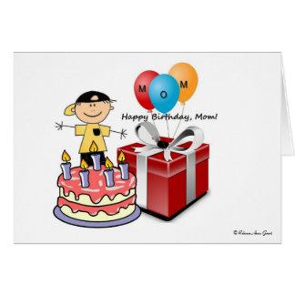 Mamá del feliz cumpleaños - de hijo - añada su tarjeta de felicitación