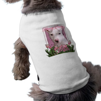 Mamá del feliz cumpleaños - perrito de Pitbull - P Camiseta Sin Mangas Para Perro
