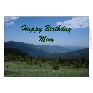 Mamá del feliz cumpleaños tarjetón