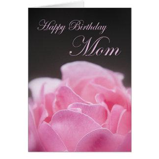 Mamá del feliz cumpleaños tarjeta