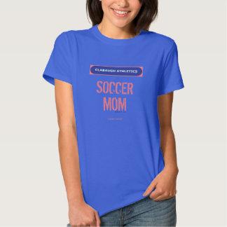 MAMÁ del FÚTBOL del atletismo de Clabaugh Camisetas