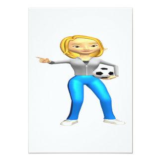 Mamá del fútbol invitación 12,7 x 17,8 cm
