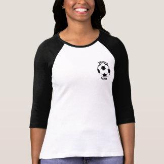 Mamá del fútbol - mi hijo es una camisa del raglán