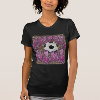 Mamá del fútbol (púrpura) camiseta