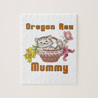Mamá del gato de Oregon Rex Puzzle