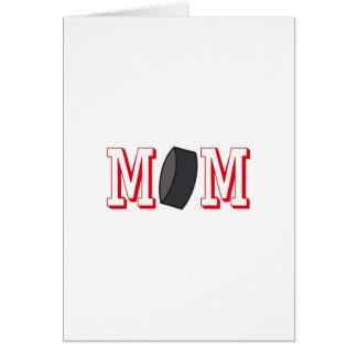 Mamá del hockey tarjeta de felicitación