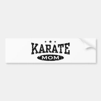 Mamá del karate pegatina para coche