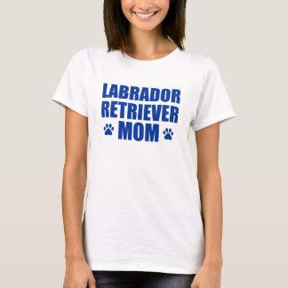 Mamá del labrador retriever camiseta