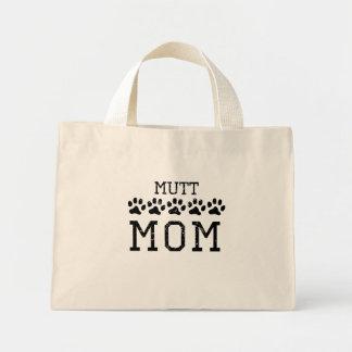 Mamá del Mutt (apenada) Bolsa Tela Pequeña