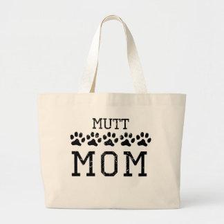 Mamá del Mutt (apenada) Bolsa Tela Grande