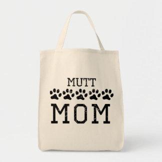 Mamá del Mutt (apenada) Bolsa Tela Para La Compra