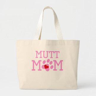 Mamá del Mutt Bolsa Tela Grande
