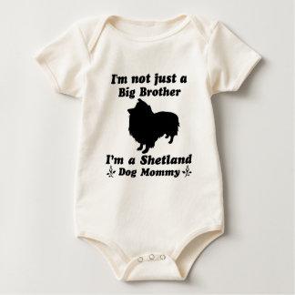 mamá del perro de Shetland Body Para Bebé