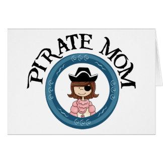 Mamá del pirata tarjetón