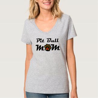 Mamá del pitbull camiseta