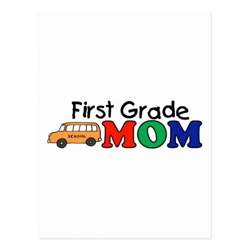 Mamá del primer grado tarjeta postal