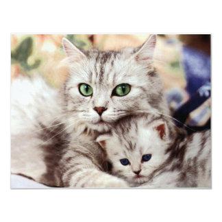Mamá e hijo invitación 10,8 x 13,9 cm
