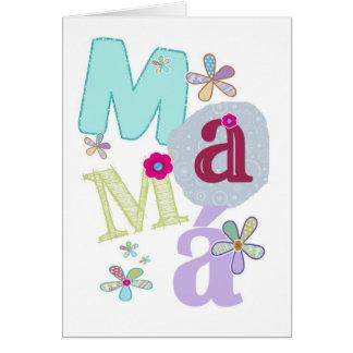 mamá, el día de madre feliz en español felicitacion
