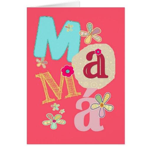 mamá, el día de madre feliz en español tarjeton
