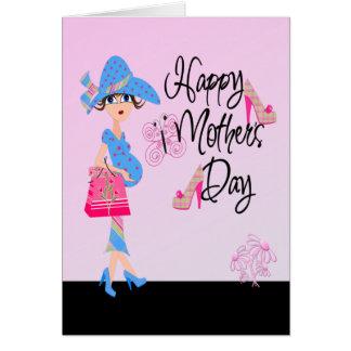 Mamá embarazada feliz del día de madres tarjeta de felicitación