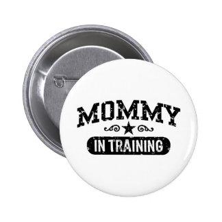 Mamá en el entrenamiento chapa redonda 5 cm