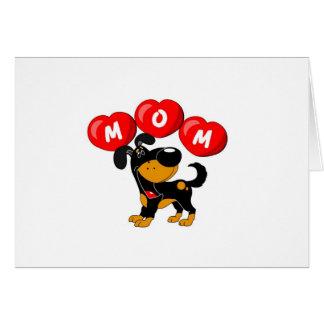Mamá en los corazones (Bubba) Tarjeta De Felicitación
