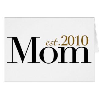 Mamá Est 2010 Tarjeton
