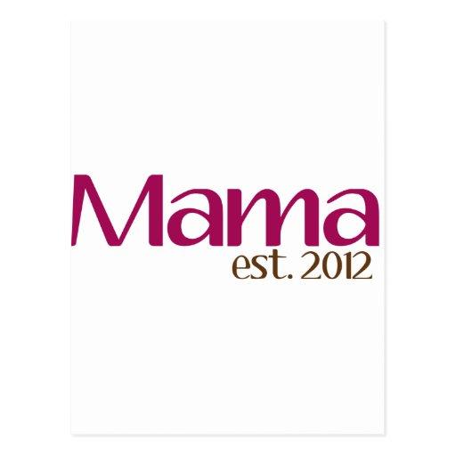 Mamá est 2012 tarjeta postal
