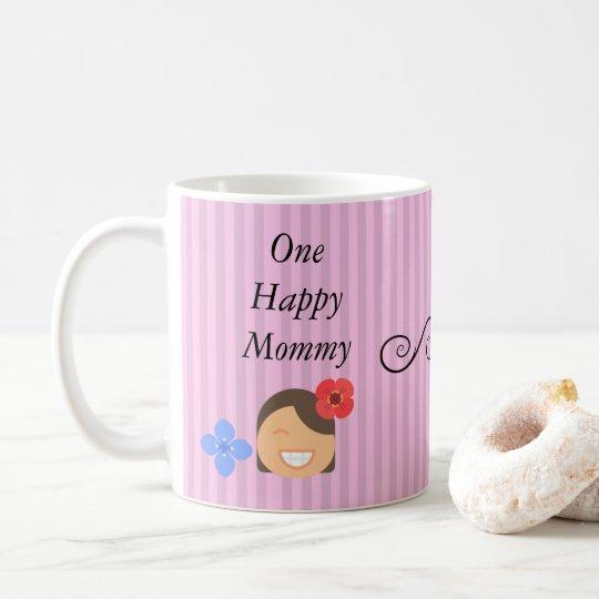 Mamá feliz taza de 11 onzas